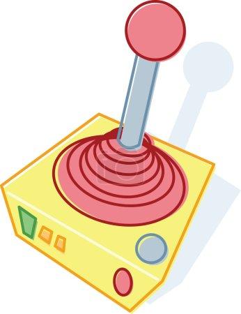 Retro style toy joystick illustration