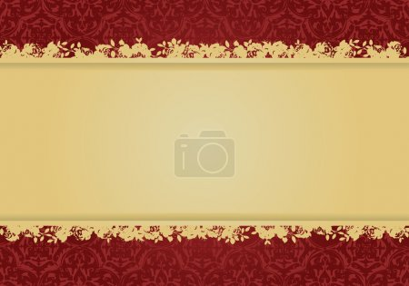 Illustration for Decorative floral background vector design all parts are editable - Royalty Free Image