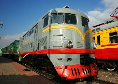 Photo pour Moteur diesel - la locomotive - image libre de droit