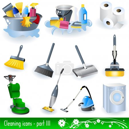 Illustration for Collection of cleaning icons - part 3. - Royalty Free Image