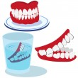 Teeth clip-art icons isolated on white background....