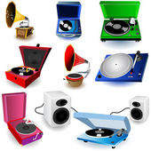 9 Gramophone color icons