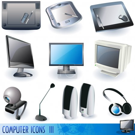 Illustration for Computer icons - peripheral units - part 3 - Royalty Free Image