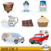 Baking icons set 4