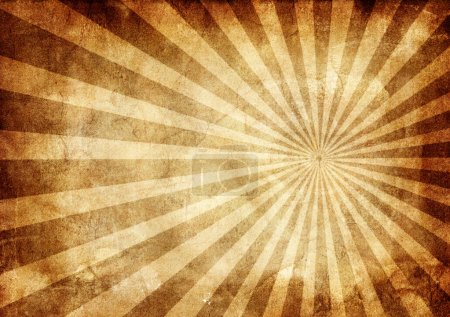 Photo for Background made with old textured paper with light rays - Royalty Free Image