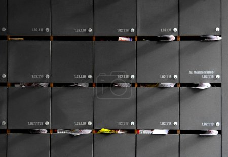 Photo for Picture of mailboxes in a building - Royalty Free Image