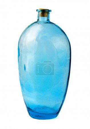 Photo for Blue glass jar isolated on white - Royalty Free Image