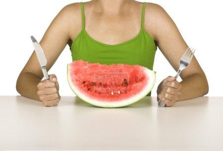 Watermelon hungry