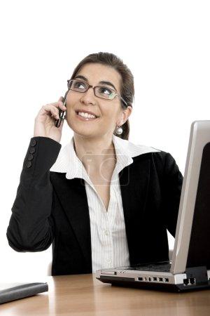 Buziness woman making a call
