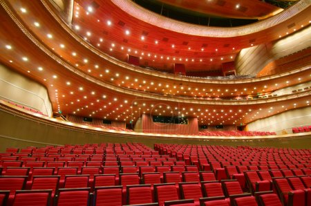 Photo pour Intérieur du Grand Théâtre National de Chine (à Beijing) - image libre de droit