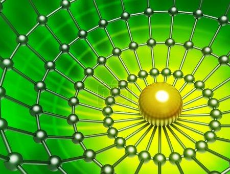 Foto de Fondo abstracto con un gradiente de amarillo a verde oscuro - Imagen libre de derechos