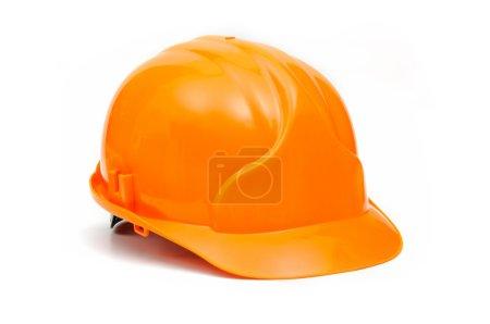 Photo for Helmet orange on a white background - Royalty Free Image