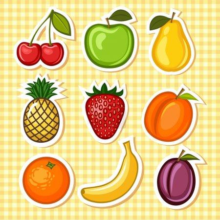 Illustration pour Fruits peints dans le vecteur . - image libre de droit