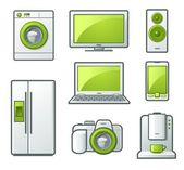 A set of household electrical appliances