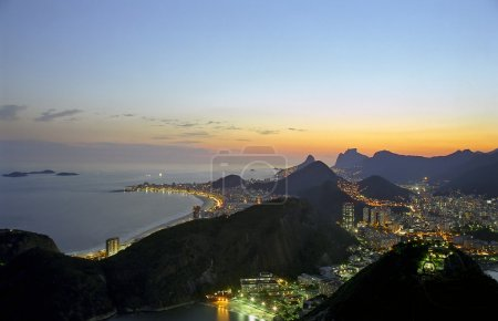 Rio shortly after a beautiful sunset