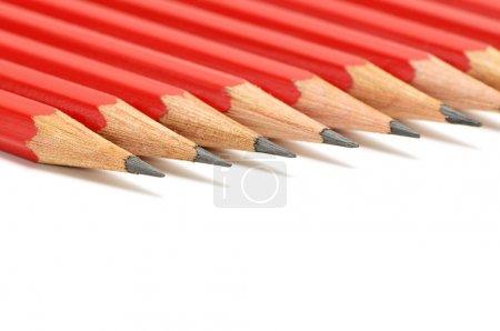 Photo pour Crayons isolés sur un blanc - image libre de droit