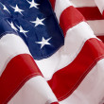 Wavey American flag background