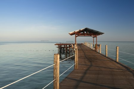 Wooden pier borneo seascape
