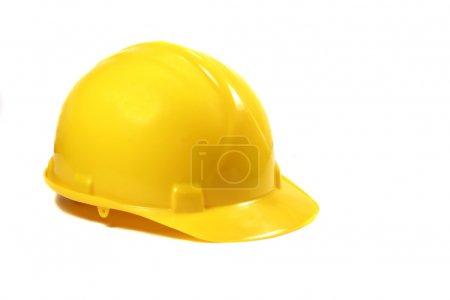 Photo pour Chapeau dur jaune isolé sur un fond blanc - image libre de droit