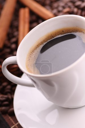 Cup of delicious coffee