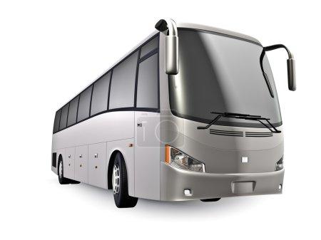 Photo pour Bus de visite 3D isolé sur blanc. Pas de marques - image libre de droit