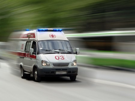 Photo for The ambulance car hastens for the aid - Royalty Free Image