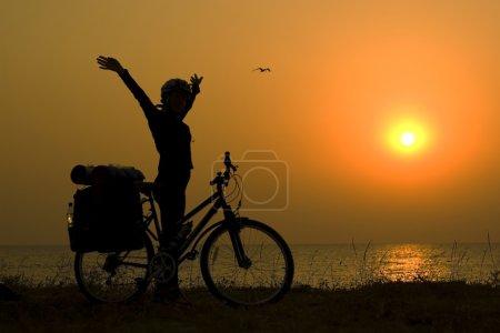Mountain biker girl.