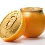 Fresh orange juice. Conceptual photocollage....