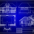Close-up of house blueprint...