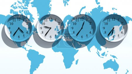 Photo for Timezone clocks showing different time - Royalty Free Image