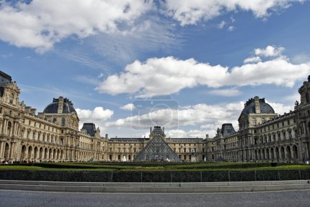 Louvre Museum in the sunlight