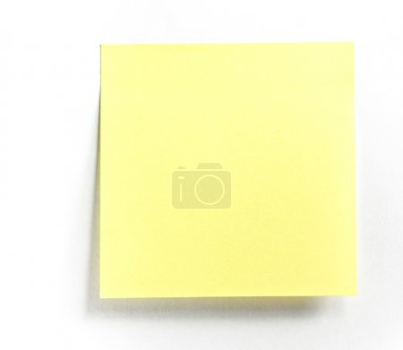 Photo pour Note post-it isolée - image libre de droit