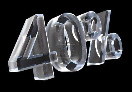40 percent in glass (3D)