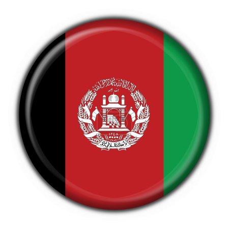 Afghanistan button flag round shape