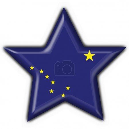 Alaska (USA State) button flag star shape