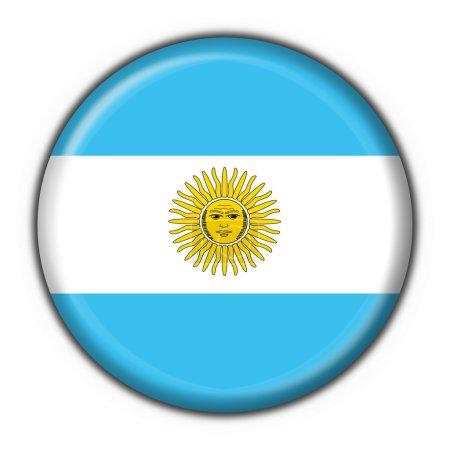 Argentina button flag round shape