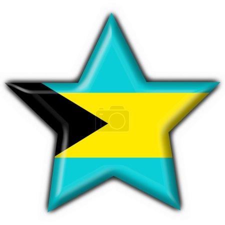Bahamas button flag star shape