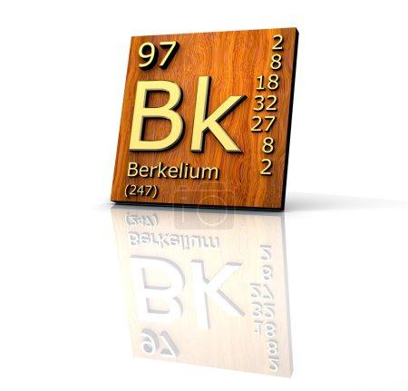 Berkelium Periodic Table of Elements - wood board