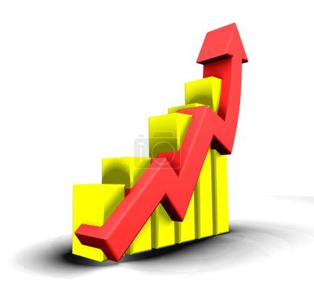 Photo pour Statistiques graphiques - 3d fait - image libre de droit