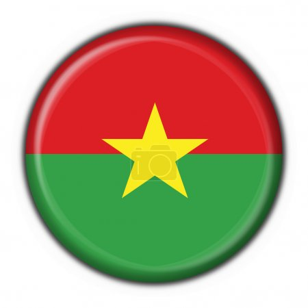 Burkina faso button flag round shape