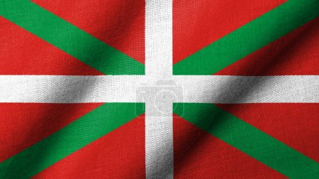 3D Flag of Basque Country