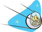Sputnik Satellite and dog