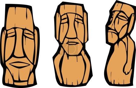 Group of Moai