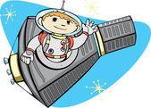 Mercury Capsule and Space Boy