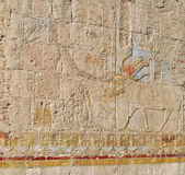 "Постер, картина, фотообои ""Храм фараона - иероглифы на стене"""