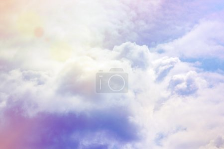 Photo for Heavenly cloud with sun - Royalty Free Image