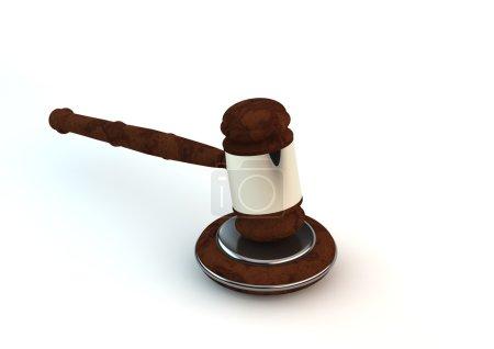 Photo pour Gavel en bois - symbole de justice - image libre de droit