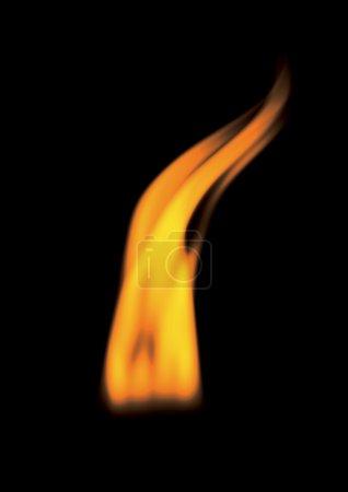 Foto de Llamas de fuego aisladas sobre fondo negro - Imagen libre de derechos
