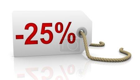 Twenty five percent discount