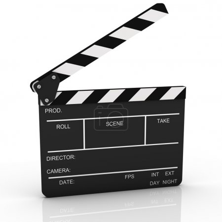 Photo for Opened clapboard isolated on a white background - Royalty Free Image